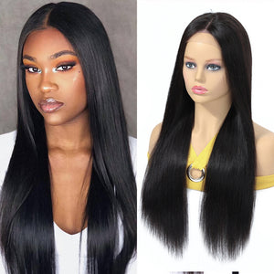 Hair Brazilian Wig 4*4 Straight Lace Closure Wig Lace Front Human Hair Wigs Pre-Plucked With Baby Hair