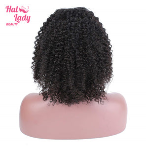 Peruvian Deep Curly Bob Lace Front Wig Short Bob Human Hair Wigs 13x4 Pre plucke For Black Women Mid Part