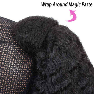 Wrap Around Ponytail Clips in Pony Tail Extensions Indian Human Hair Remy Yaki Hair For African American Women