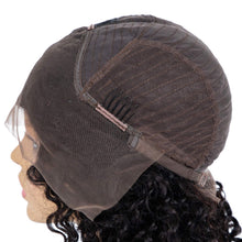 Load image into Gallery viewer, Brazilian Kinky Curly Bob Wigs Short Bob Human Lace Front Hair Wigs 13x4 Pre plucke Middle Part Virgin Hair