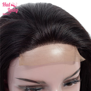 4X4 Lace Front Human Hair Wigs Pre Plucked Brazilian Virgin Straight Lace Front Hair Wig 150% - Halo Lady Hair