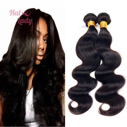 Hair Brazilian Body Wave Virgin Hair Weaves 100% Unprocessed Human Hair Extensions - Halo Lady Hair