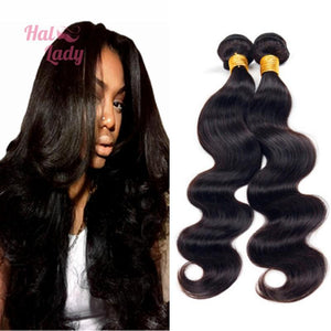 32 34 36 38 40 Inches Brazilian Body Wave Virgin Hair Weaves  Hair Unprocessed Human Hair Extensions - Halo Lady Hair