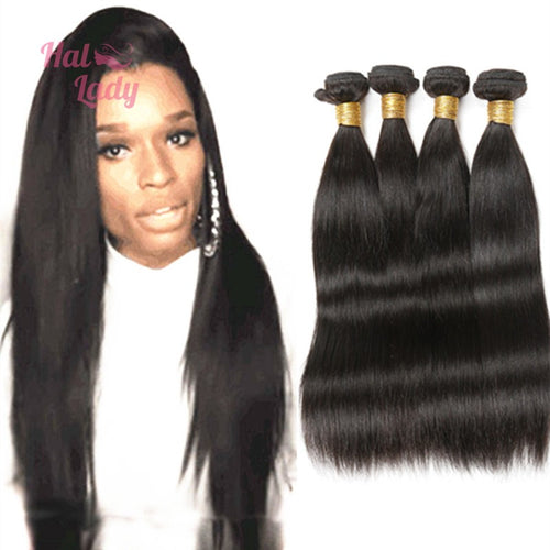 32 34 36 38 40 Inches Brazilian Straight Virgin Hair Weaves  Hair Human Hair Extensions - Halo Lady Hair