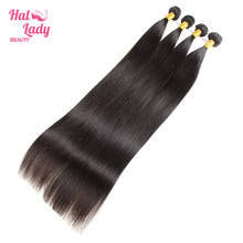 Load image into Gallery viewer, 32 34 36 38 40 Inches Peruvian Straight Virgin Hair Weaves 100% Unprocessed Human Hair Extensions - Halo Lady Hair