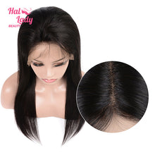 Load image into Gallery viewer, Halo Lady Lace Front Human Hair Wig 13x4 Brazilian Virgin Straight Full Lace Wigs 180% 250% Density