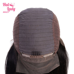 13x4 Lace Front Human Hair Wigs Pre Plucked  Hair Malaysian Straight Lace Front Wig With Baby Hair - Halo Lady Hair
