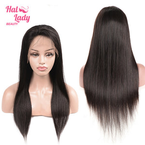 Halo Lady Lace Front Human Hair Wig 13x4 Brazilian Virgin Straight Full Lace Wigs 180% 250% Density - Halo Lady Hair
