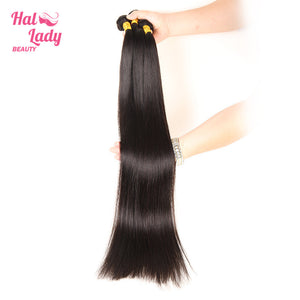 40 to 60 Inches Long Brazilian Straight Virgin Hair Halo Lady Weaves 100% Unprocessed Human Hair Extensions - Halo Lady Hair