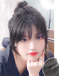 Clip In Bangs Human Hair 3D Air Bangs For Women Brazilian Hair Pieces Invisible Seamless Non-remy Replacement Hair Wig - Halo Lady Hair
