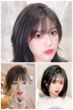 Load image into Gallery viewer, Clip In Bangs Human Hair 3D Air Bangs For Women Brazilian Hair Pieces Invisible Seamless Non-remy Replacement Hair Wig - Halo Lady Hair