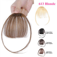 Load image into Gallery viewer, 613 Blonde Clip-in Bangs Human Hair Flat Air Fringe Bangs Invisible Brazilian Hair Pieces Replacement alipearl Hair Wig - Halo Lady Hair