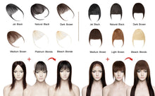 Load image into Gallery viewer, 613 Blonde Clip-in Bangs Human Hair Flat Air Fringe Bangs Invisible Brazilian Hair Pieces Replacement  Hair Wig - Halo Lady Hair