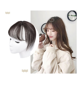360 Invisible Human Hair Bangs Clip In Air Fringe Bangs Virgin Hair Pieces Can Be Dyed Brown Natural Color alipear - Halo Lady Hair