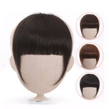 Load image into Gallery viewer, Full Blunt Bangs Clip In Human Hair Extension Clip-In Fringe Hair Bangs  613 Blonde Neat Bangs - Halo Lady Hair