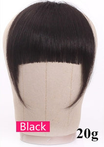 Halo Lady Beauty Brazilian Human Hair Blunt Bangs Clip In Human Hair Extension Non-Remy Clip-In Fringe Hair Bangs 613 Neat Bang