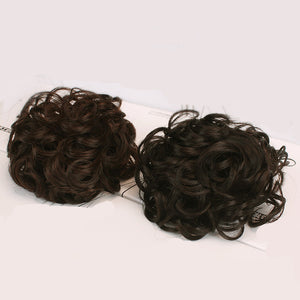 Drawstring Chignons Ponytail Hair Extensions Bun Updo Hairpiece Brazilian Human Hair Bun Donut Chignons Hair Piece Wig Non-remy