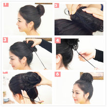 Load image into Gallery viewer, Drawstring Chignons Ponytail Hair Extensions Bun Updo Hairpiece Brazilian Human Hair Bun Donut Chignons Hair Piece Wig Non-remy