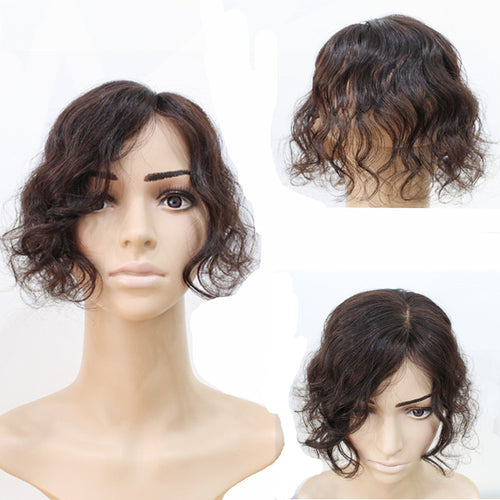 Clip In Human Hair Bangs Body Wave Fringe Hair Brazilian Remy Toupees Toppers Invisible for Hair Loss