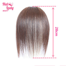 Load image into Gallery viewer, Clip In Gradient Bangs Side Swept Human Hair Pieces Bionic Scalp Clip on Bang Hair Women Brazilian Extensions