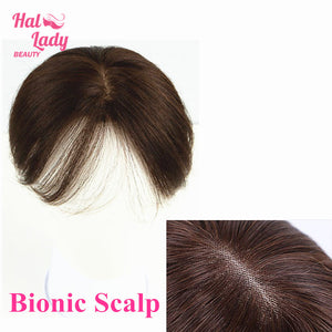 Clip In Gradient Bangs Side Swept Human Hair Pieces Bionic Scalp Clip on Bang Hair Women Brazilian Extensions