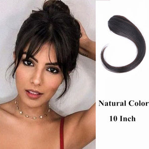Halo Lady Beauty 25-30CM Natural Human Hair Clip On The Front Side Of The Bangs Woman With Fake Fringe Hair  Brazilian Non-Remy