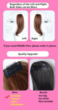 Load image into Gallery viewer, Halo Lady Beauty 25-30CM Natural Human Hair Clip On The Front Side Of The Bangs Woman With Fake Fringe Hair  Brazilian Non-Remy