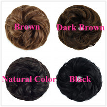 Load image into Gallery viewer, Halo Lady Beauty 100% Real Human Hair Bun Extensions Updo Peruvian Curly Messy Donut Chignons Hair Piece Wig Non-remy Hairpiece
