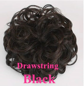 100 Real Human Hair UpdoDrawstring Ponytail Clip In Afro Puff Short Afro Kinky Curly Chignon Bun Extension Hairpieces Halo Lady