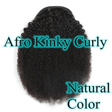 Load image into Gallery viewer, Halo Lady #4 Dark Brown Drawstring Afro Kinky Curly Ponytail Human Hair Non-Remy Indian Hair Extensions For African American