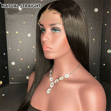 Load image into Gallery viewer, Hair Brazilian Wig 4*4 Straight Lace Closure Wig Lace Front Human Hair Wigs Pre-Plucked With Baby Hair - Halo Lady Hair