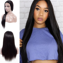Load image into Gallery viewer, 4X4 Lace Front Human Hair Wigs Pre Plucked Brazilian Virgin Straight Lace Front Hair Wig 150% Alipearl Hair - Halo Lady Hair
