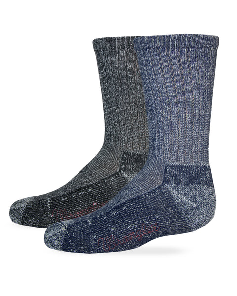 Wrangler Youth Cotton Crew Socks 2 Pair Pack