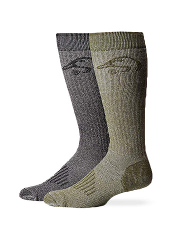 Ducks Unlimited Full Cushion Merino Wool Tall Boot Socks 2 Pair
