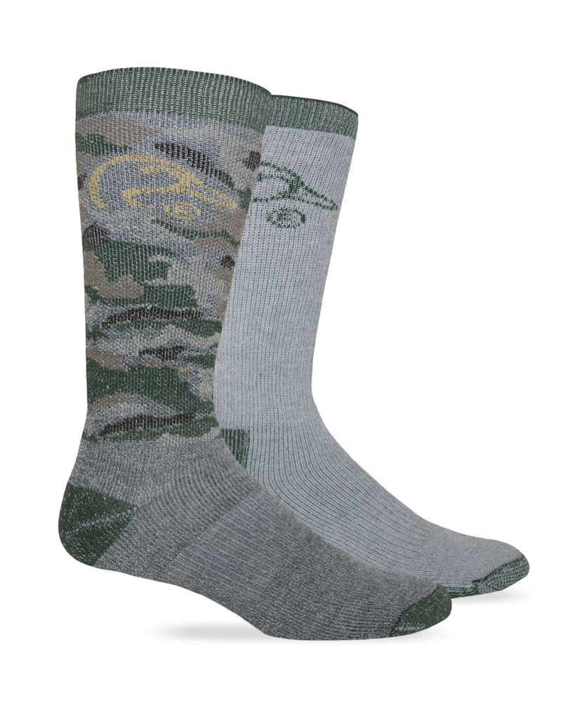 Ducks Unlimited Full Cushion Merino Wool Blend Boot Socks 2 Pair