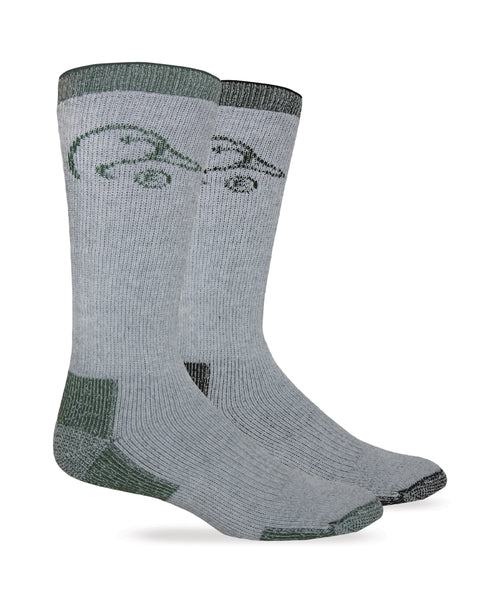 Ducks Unlimited Men's Full Cushion Merino Wool Blend Boot Socks 2 Pair