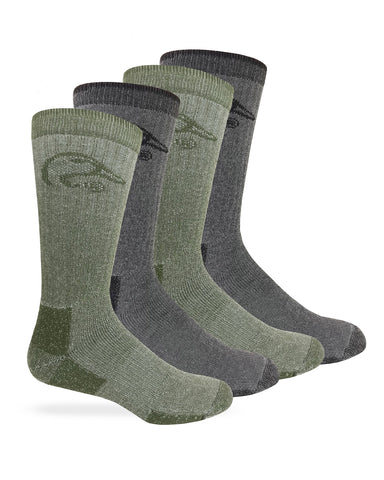 Ducks Unlimited Merino Wool Blend Boot Socks 4 Pair Pack