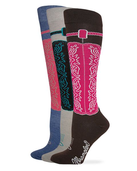 Wrangler Ladies Cowgirl Boot Knee High Socks 1 Pair