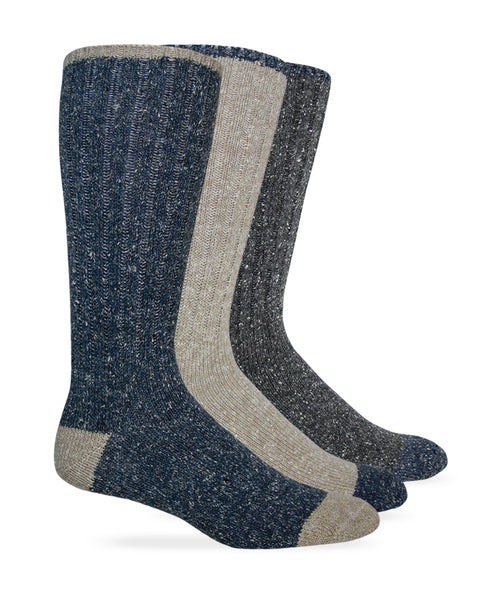 Wise Blend Men's Marl Boot Socks 1 Pair