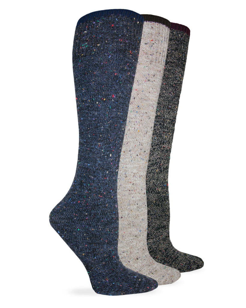 Wise Blend Ladies Fleck Marl Knee High Socks 1 Pair