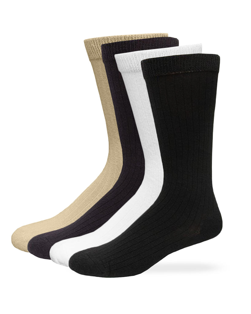 Carolina Ultimate Men's Dress Rib Cotton Comfort Top Socks 2 Pair