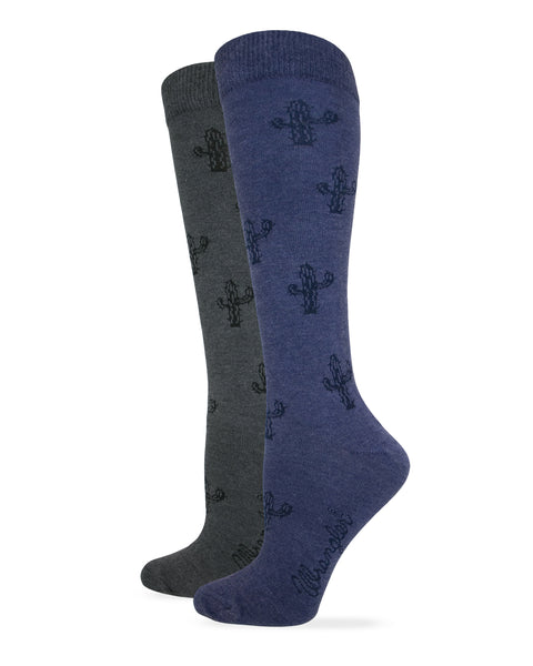 Wrangler Ladies Cactus Knee High Socks 1 Pair