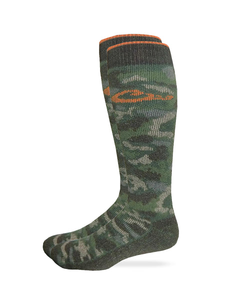 Drake Men's Camo Merino Wool Blend Boot Socks 1 Pair