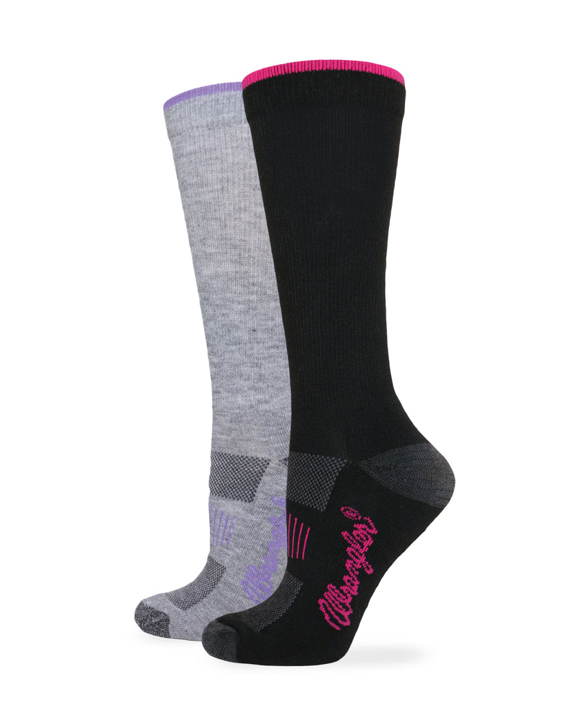 Wrangler Ladies Ultra-Dri Everyday Crew Socks 2 Pair