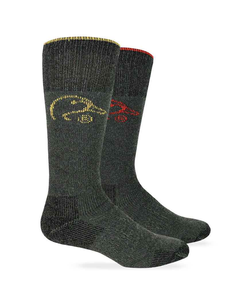 Ducks Unlimited Men's Ultra-Dri Merino Wool Blend Boot Socks 2 Pair Pack