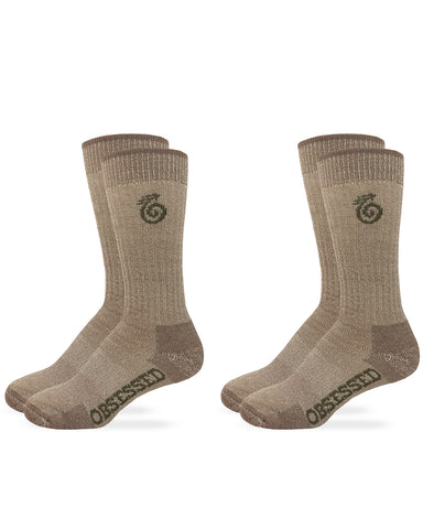 Heavyweight Merino Wool Crew Socks - 2 Pair Pack
