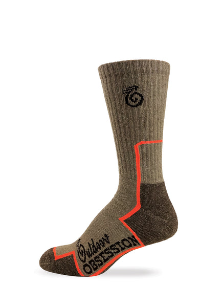 Recycled Cotton Hiking Crew Socks - 3 Pair Pack