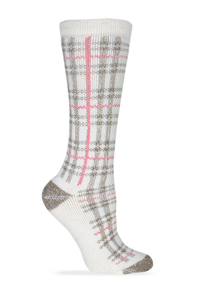 Wise Blend Ladies Full Cushion Plaid Socks 1 Pair