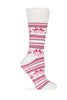 Wise Blend Ladies Merino Wool Blend Floral Frost Socks 1 Pair
