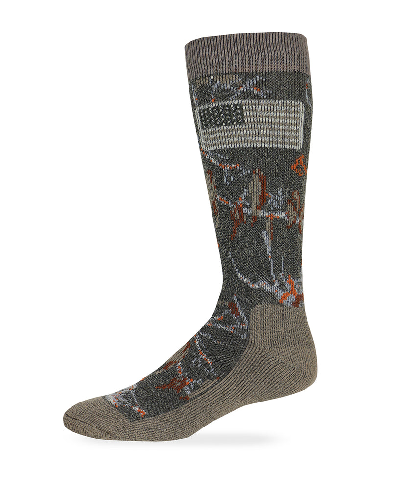 Realtree Men's Ameri-Camo Merino Wool Blend Boot Socks 1 Pair